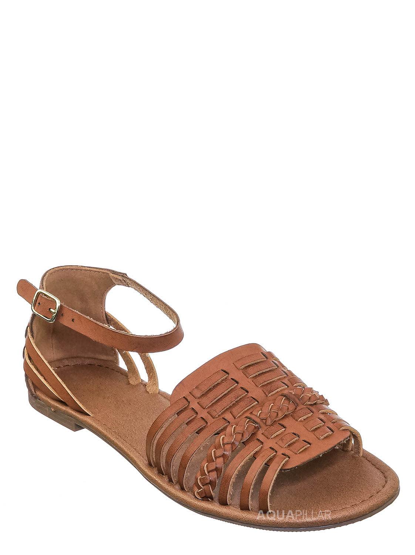 Delicious Women/'s Open Toe Metal Plate Decor  Ankle Strap Sandals SKAT