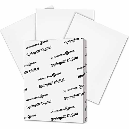 "Springhill Digital Index White Card Stock, 8.5"" x 11"", 250 Sheets"
