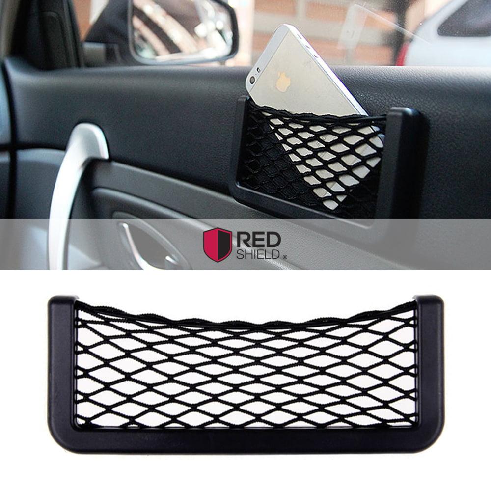 [REDshield] Car Net Bag Phone Holder Storage Pocket Organizer- Geat for Wallet, Keys, pens, and More!