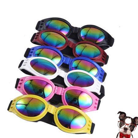 - Foldable Pet Dog Cat Windproof Sunglasses for Outdoor Wear black One size