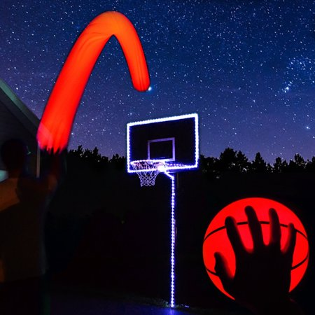 GlowCity Light Up LED Basketball and Hoop Lighting Kit - Light Up Toys.com