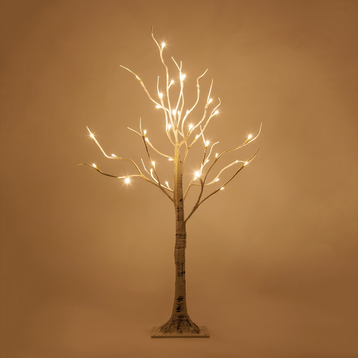 3 Ft Led White Birch Twig Tree Light 36 Warm White Led Lights Flexible Decorative Branches Indoor Covered Outdoor Low Voltage