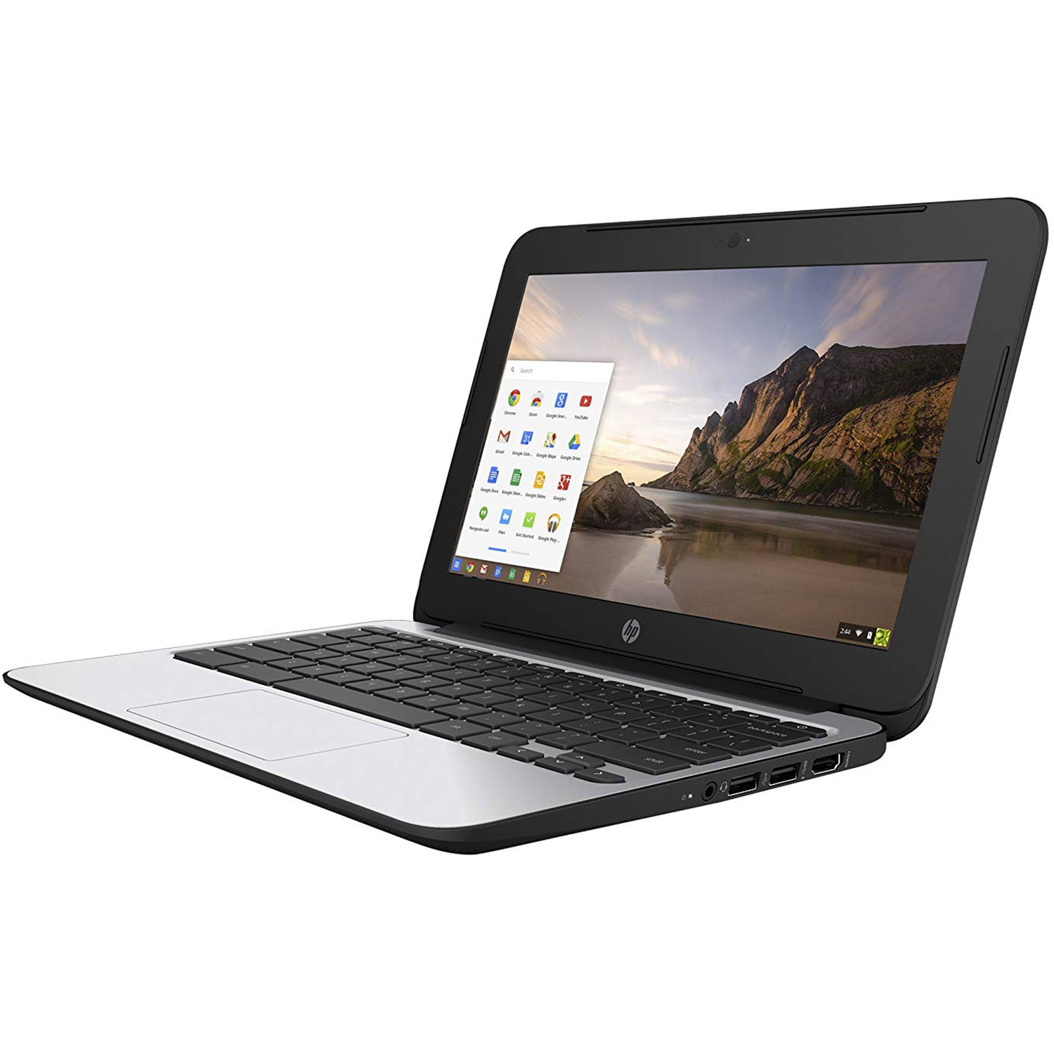 Refurbished HP ChromeBook 11 G4 EE: 11.6-inch (1366x768) Intel Celeron N2840 2.16GHz, Gray