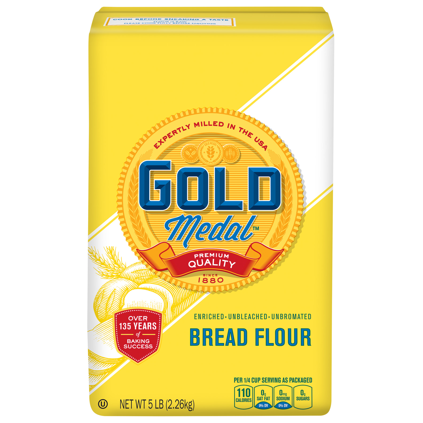 Gold Medal Unbleached Bread Flour, 5 lb Bag