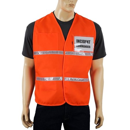 Incident Command Vest Multiple Colors, Clear Pockets for Laminated Inserts (Inserts Not Included) Open Sides & Hi Visibiltiy Reflective tape IC100.., By Safety Depot Ship from US