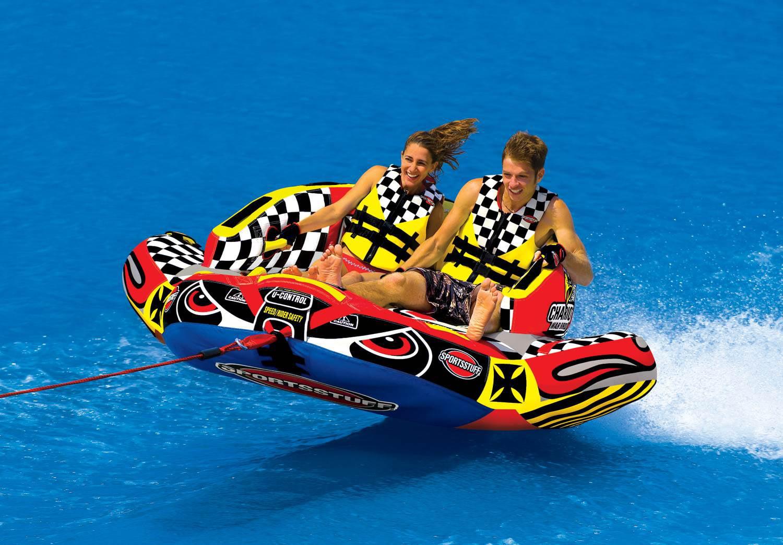 60 Foot Rope Kwik Tek Sportsstuff Chariot Warbird 2 Rider Towable Inflatable Water Tube