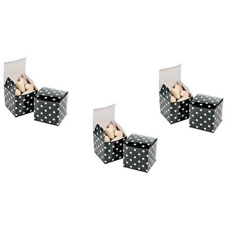 Black Polka Dot Treat Boxes - 24 pieces](Black And White Polka Dot Plates)