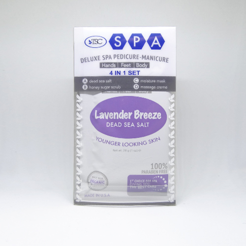 TSC Spa Organic Deluxe Spa Pedicure-Manicure System 4 in 1 Set Lavender Breeze elizabethW Cucumber Lip Balm - 4 grams, This lip balm is made with Shea butter By elizabeth W