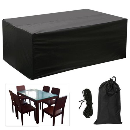 Marvelous Topeakmart Rectangular Patio Furniture Cover Black Table And Chair Set Cover Waterproof For Outdoor Garden Furniture Care 67X37X28 Caraccident5 Cool Chair Designs And Ideas Caraccident5Info
