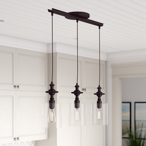 3 light kitchen island pendant modern breakwater bay humphries 3light kitchen island pendant walmartcom