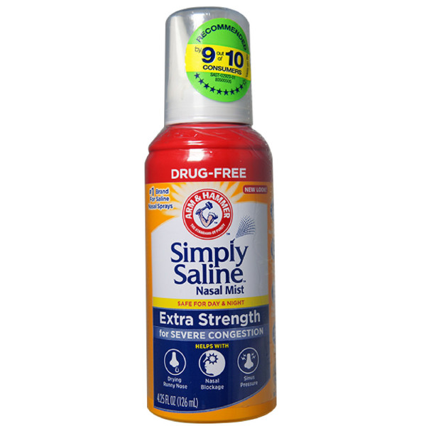Simply Saline Adult Nasal Mist Extra Strength For Severe Congestion 4.6 oz Each