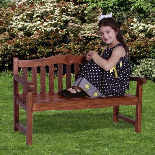 JazTy Classic Kid's Rose Garden Bench