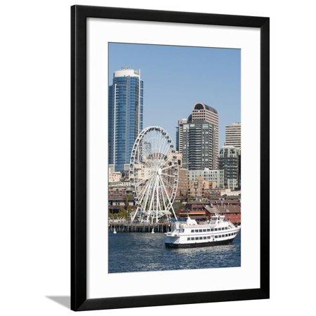 Argosy Harbor Cruise boat returns to Pier 55, Seattle, Washington, USA Framed Print Wall Art By Trish Drury](Halloween Boat Cruise Seattle)