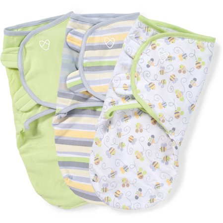 Swaddleme Original Swaddle Busy Bees Small 3 Pack Walmart