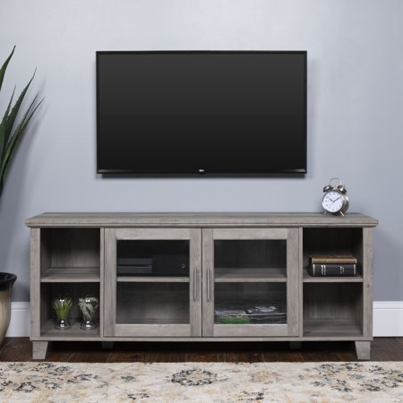 Manor Park Rustic Tv Stand Console For Tvs Up To 64 Grey Wash Walmart Com