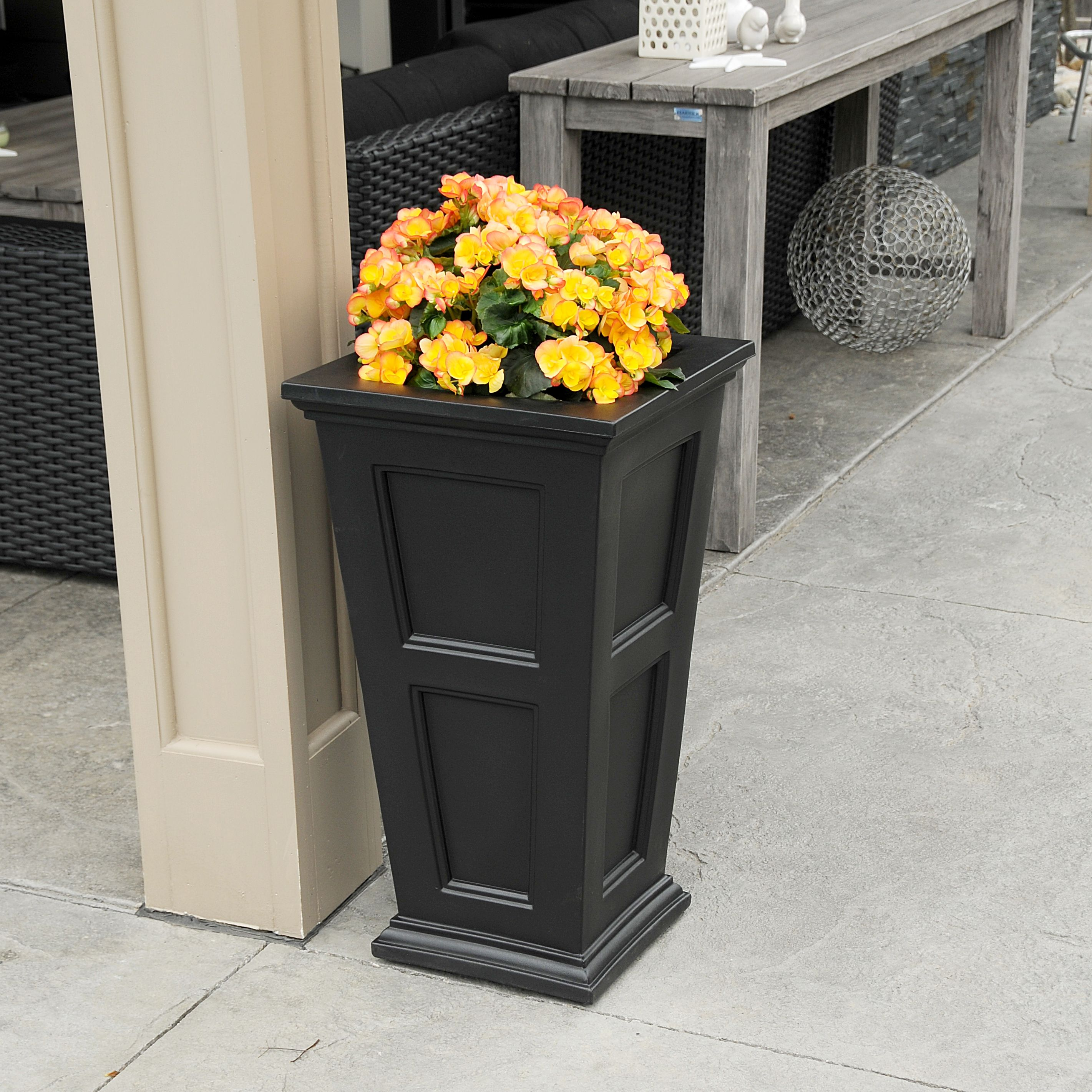Fairfield Tall Planter Black by Mayne Inc.