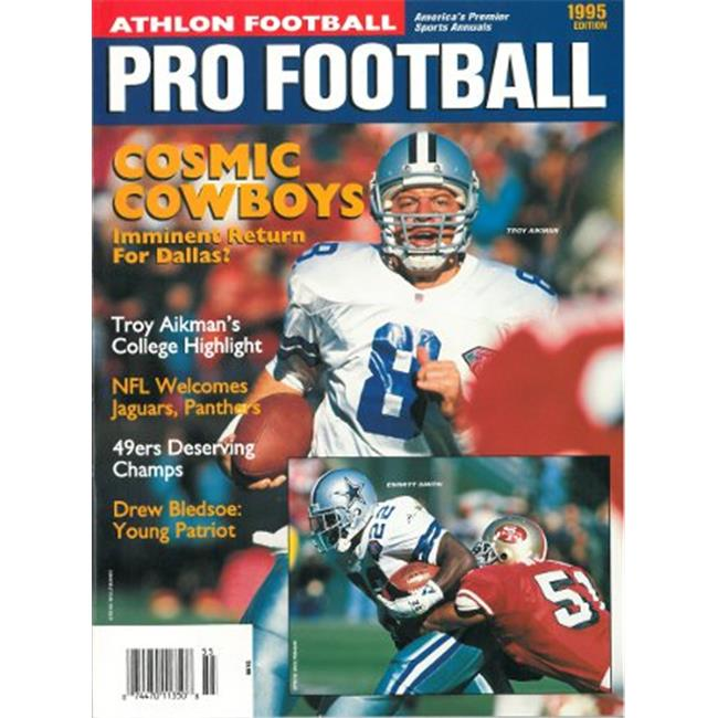 Athlon CTBL-012278 Troy Aikman Unsigned Dallas Cowboys Sports 1995 NFL Pro Football Preview Magazine