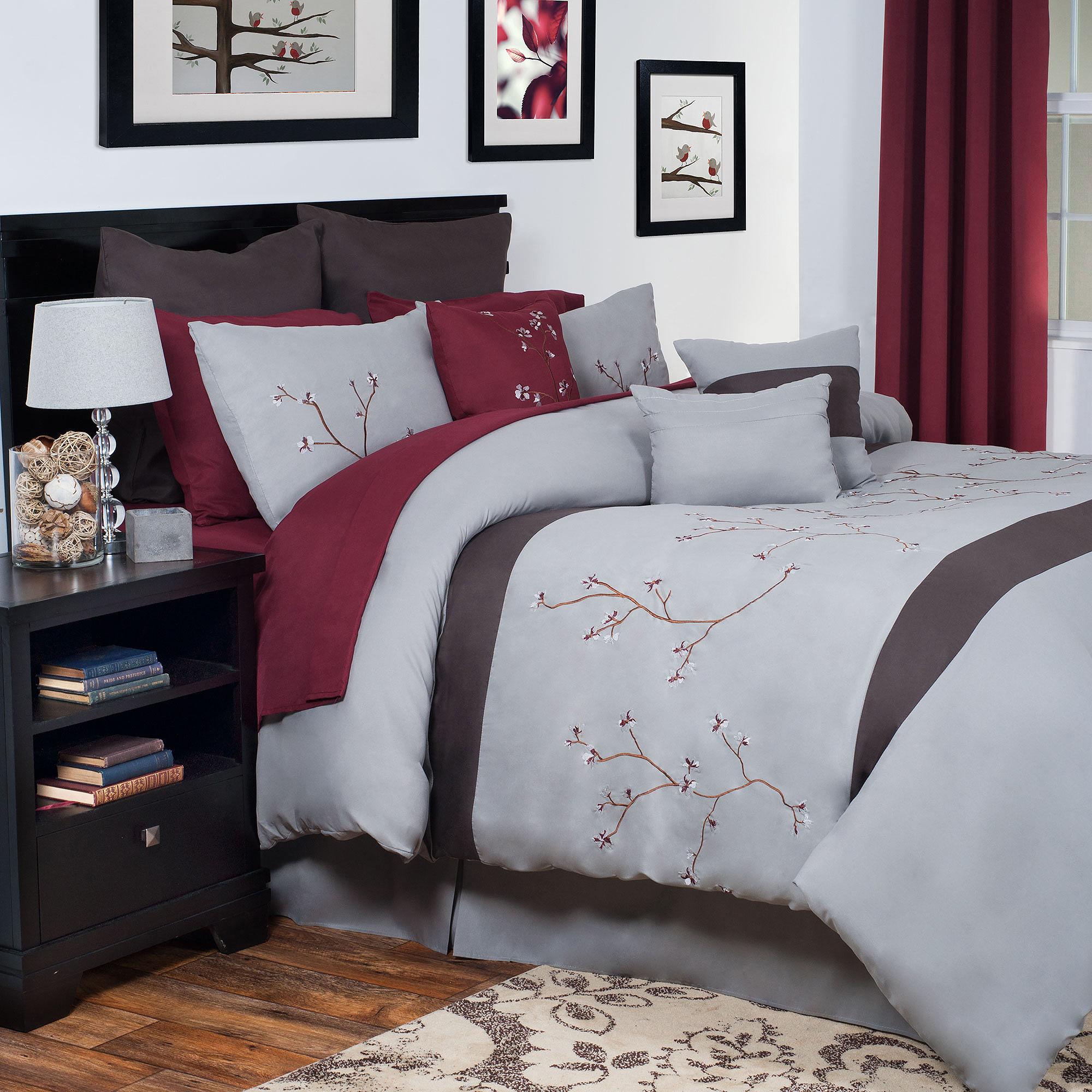 Somerset Home Grace Oversized Embroidered Bedding Comforter Set