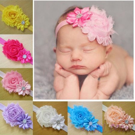 0f9fbec39295 10pcs Kid Baby Girl Toddler Cute Lace Flower Headband Hair Band Headwear -  Walmart.com
