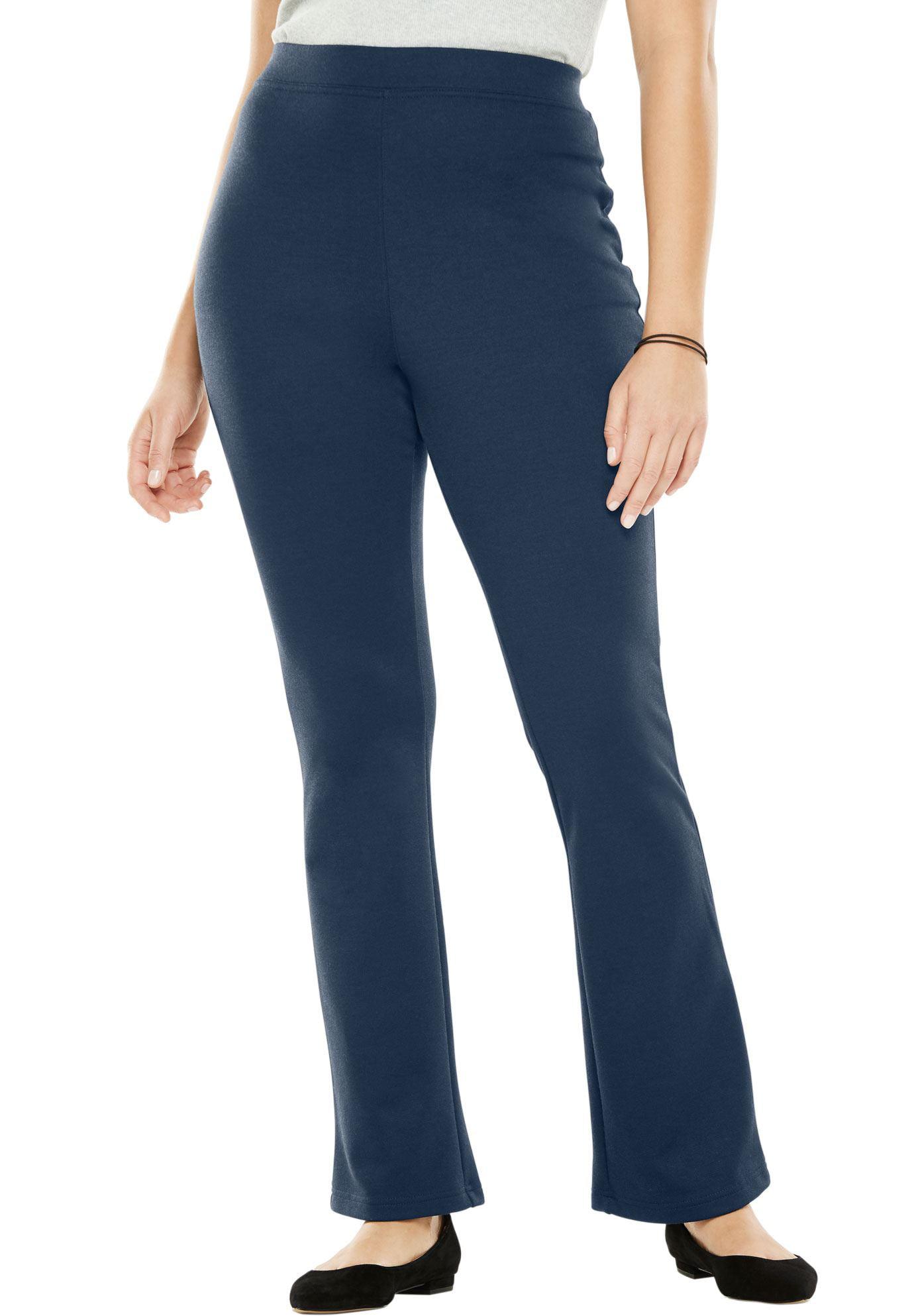 Woman Within Plus Size Bootcut Ponte Stretch Knit Pant