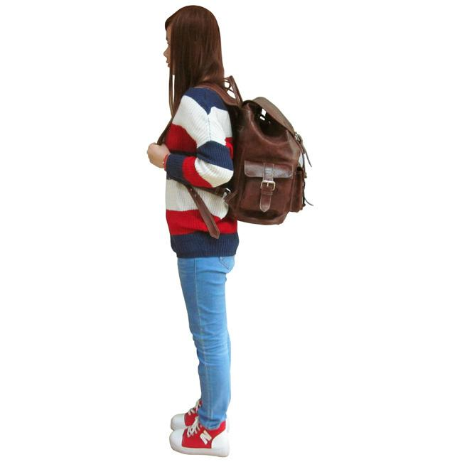 AmeriLeather Vacationer Jumbo Leather Backpack - Walmart.com