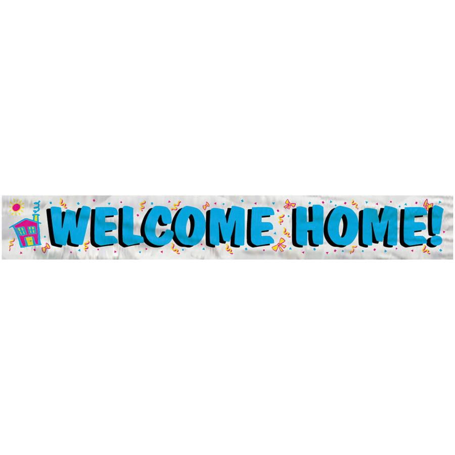 12ft Foil Welcome Home Banner - Walmart.com