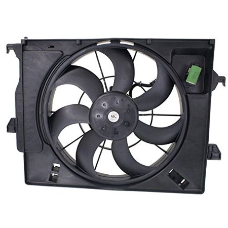 Dual Radiator and Condenser Fan Assembly - Cooling Direct For/Fit HY3115136 12-14 Hyundai Accent Sedan Hatchback 12-16 Veloster NATURALLY ASPIRATED WITHOUT Turbo 12-14 Kia Rio5/Rio Sedan