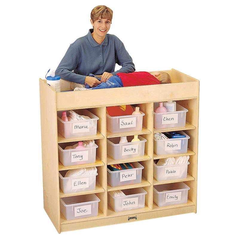Jonti-Craft Changing Table with 12 Tubs by Jonti-Craft