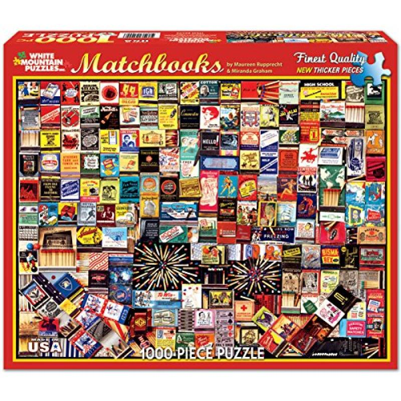 White Mountain Puzzles Matchbook Collage - 1000 Piece Jig...