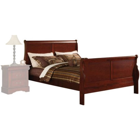 Acme Louis Philippe III California King Bed, Cherry California King Cherry Footboard