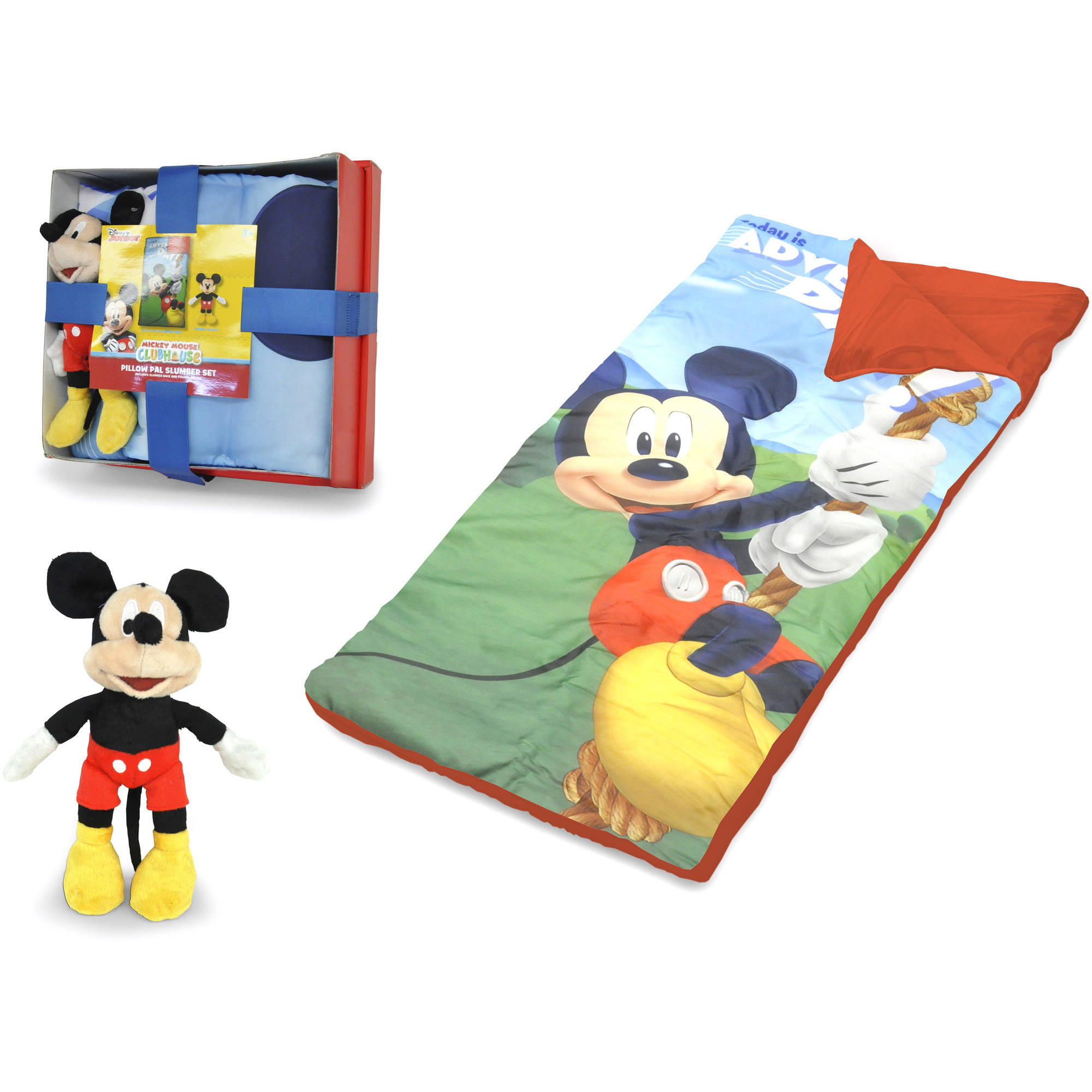 Disney Mickey Mouse Nap Mat With Bonus Figural Pillow