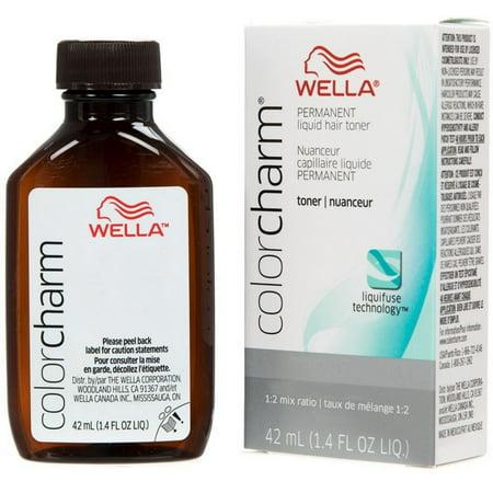 WELLA Color Charm Permanent Liquid Hair Toner (T28 Natural (Best Hair Toner For White Hair)