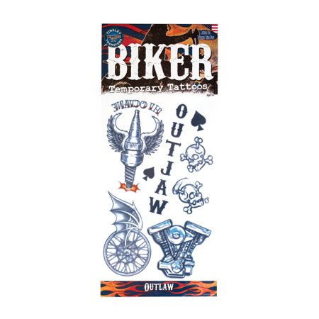 Tinsley Transfers Outlaws Biker Temporary Tattoo FX Costume Kit](31 Dollar Halloween Tattoos)