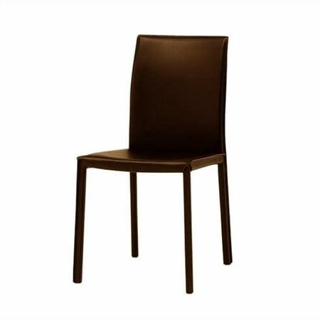 Peachy Modloft Varick Modern Art Leatherette Dining Chair In Brown Machost Co Dining Chair Design Ideas Machostcouk
