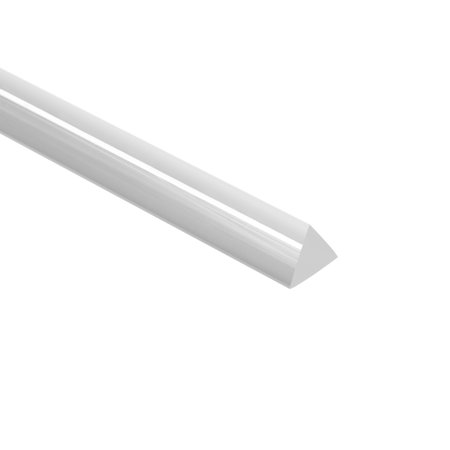 Acrylic Triangle Shaped Rod PMMA Bar Clear 5mmx5mm 10 Inch Long