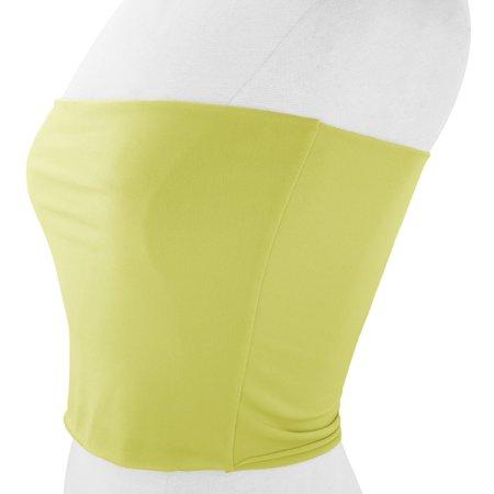 VON VONNI Women's Lime Green Transformer Tube Top One Size