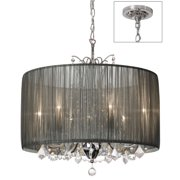 Dainolite 5 Light Crystal Chandelier - Polished Chrome