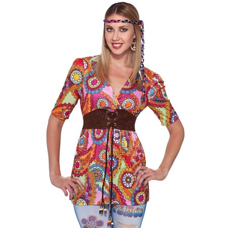 60's 70's Love Child Costume Shirt Adult Standard for $<!---->