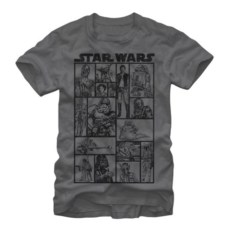 Star Wars Classic Character Group Mens Graphic T Shirt