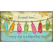 Red Horse Arts Hanging Flops by Suzanne Nicoll Graphic Art Plaque