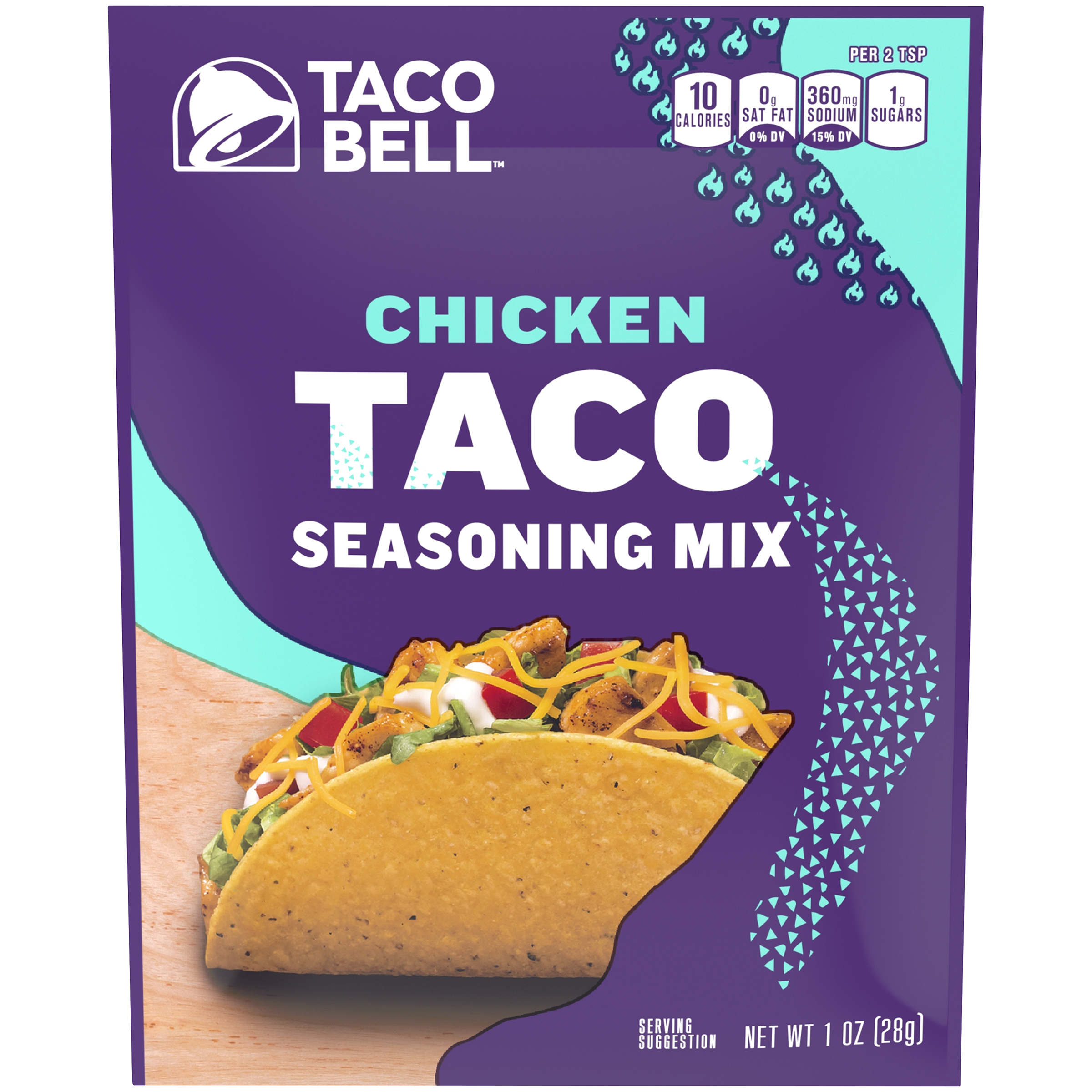 Taco Bell Chicken Taco Seasoning Mix 1 oz. Packet