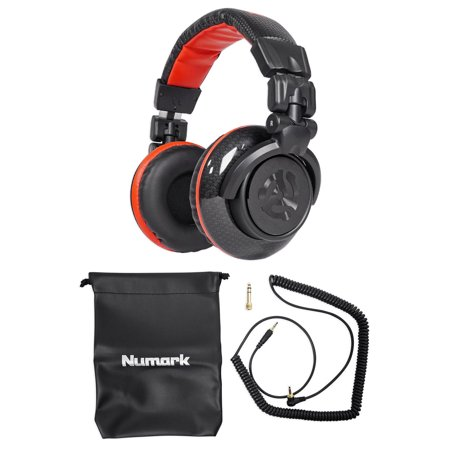 Numark Red Wave Carbon Pro Full-Range Mixing DJ Headphones+Pouch Redwave ()
