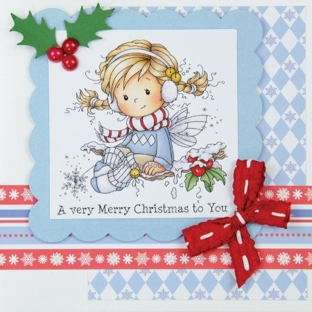 Hobby House HHWS006 Wee Stamps Topper Sheet, 8.3 by 12.2-Inch, Holly Time Multi-Colored