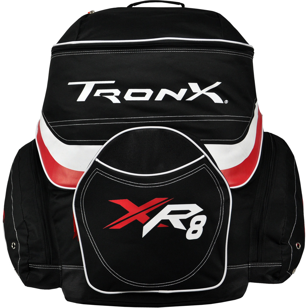 TronX XR8 Hockey Backpack Bag (Black Red) by