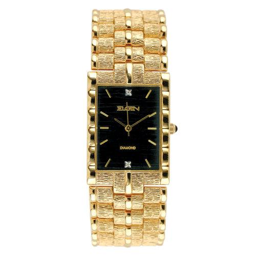Elgin Men's Diamond Dial Bark Watch