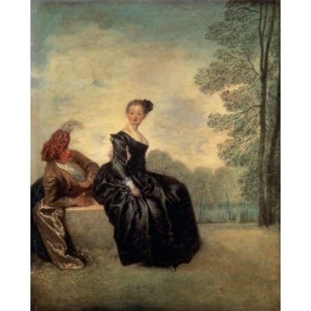 Launisches Madchen Jean-Antoine Watteau (1684-1721 French) Painting State Hermitage Museum St Petersburg Russia Stretched Canvas - Jean-Antoine Watteau (18 x -