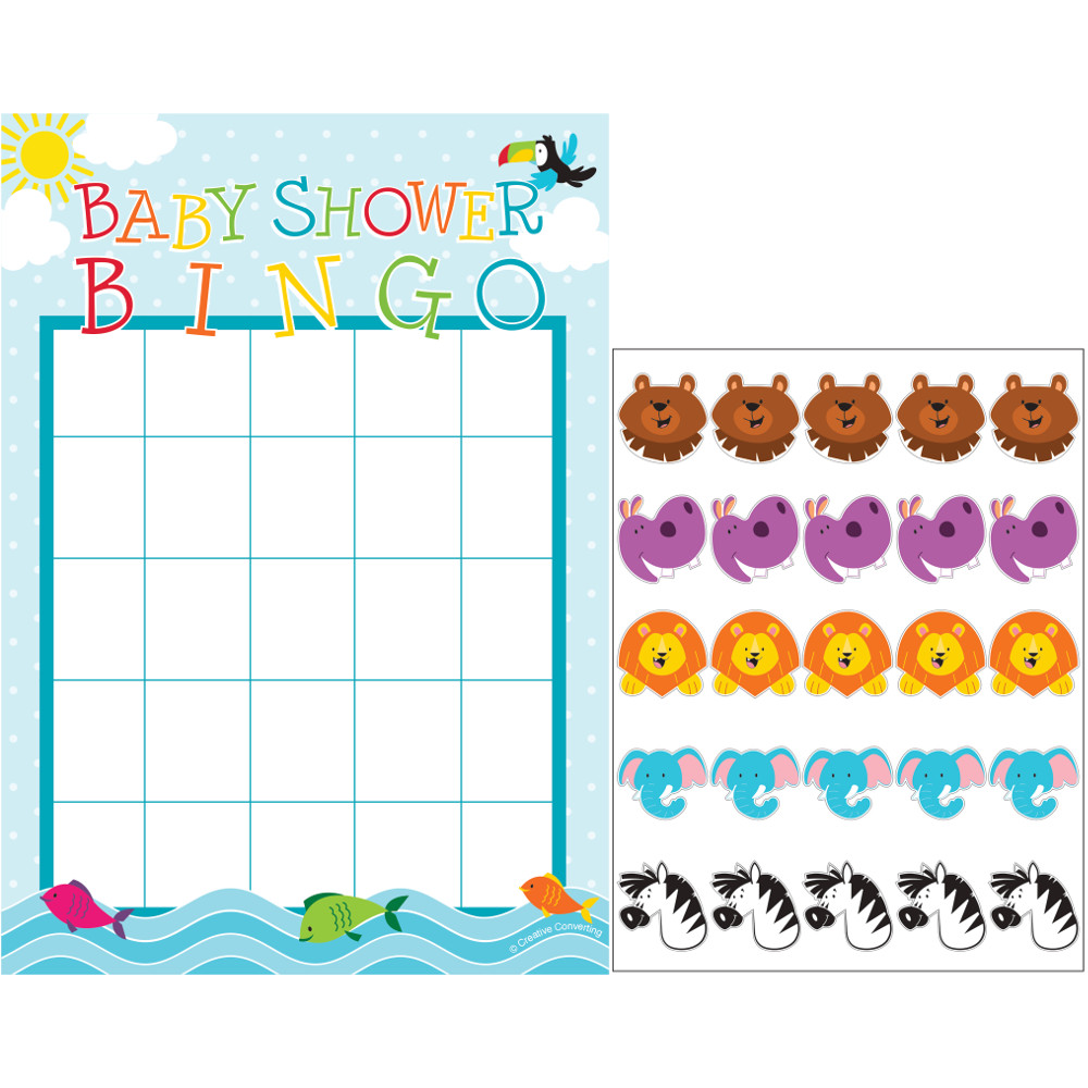 "Club Pack of 60 Multicolored Noah's Ark ""Baby Shower"" Bingo Game 8.5"""