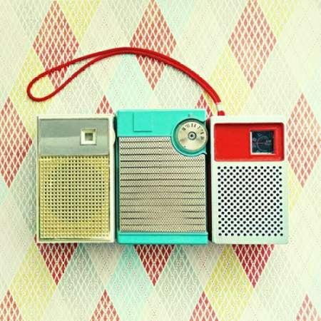 Vintage Transistor Radio Trio Canvas Art - Vicki Dvorak (24 x 24)