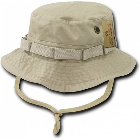 RapDom Vintage Washed Jungle Mens Boonie Hat [Khaki - L] - Tam O Shanter Hat