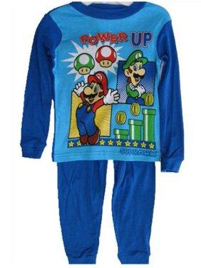Little Boys Black Cartoon Printed Long Sleeved 2 Pc Pajama Set 4-6